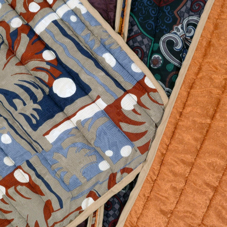 Piet Hein Eek Vintage Italian Silk Quilt Blanket For Sale 4