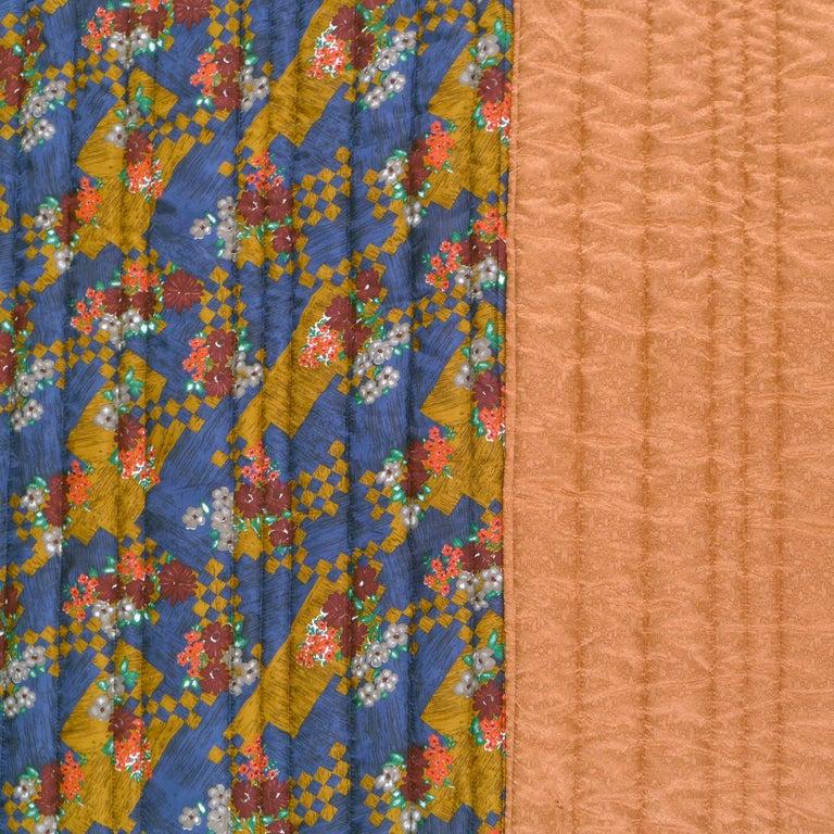 Dutch Piet Hein Eek Vintage Italian Silk Quilt Blanket For Sale