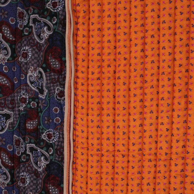 Piet Hein Eek Vintage Italian Silk Quilt Blanket For Sale 3