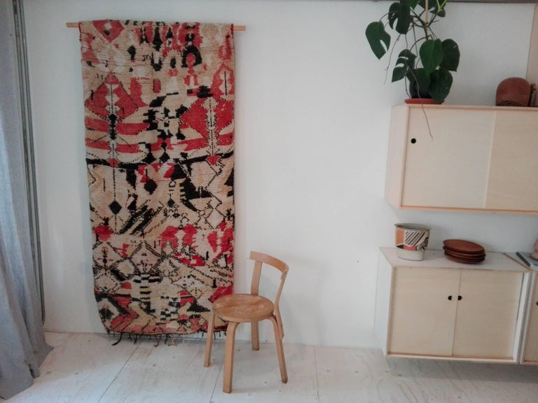 20th Century Vintage Moroccan Berber tapestry / rug For Sale