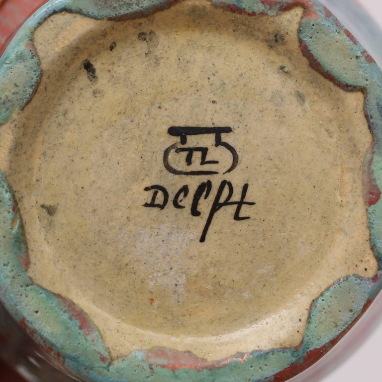 Royal Delft Vase with Experimental Glaze 6