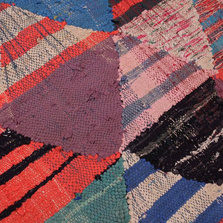 Vintage Moroccan Flat-Weave Boucheroite Rug 4