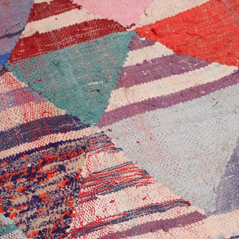 Vintage Moroccan Flat-Weave Boucheroite Rug 3