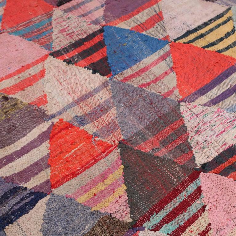 Vintage Moroccan Flat-Weave Boucheroite Rug 2