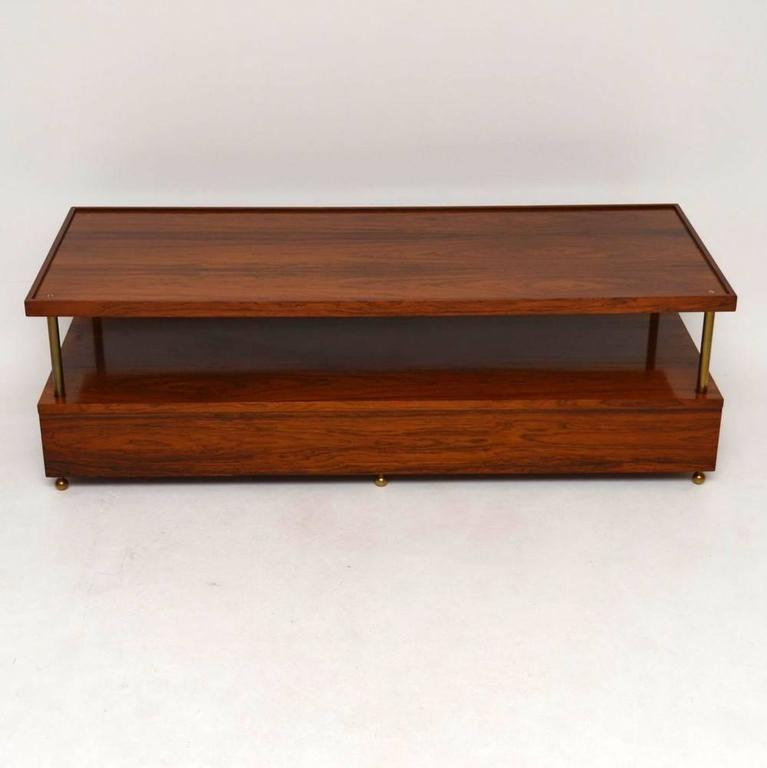 Dux Dining Table Retro Rosewood and Brass Coffee Table by Robert Heritage for Archie ...