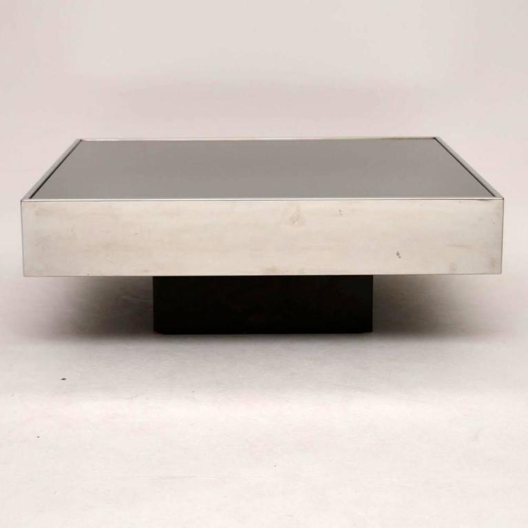 Retro italian coffee table by willy rizzo vintage 1970s for Table willy rizzo