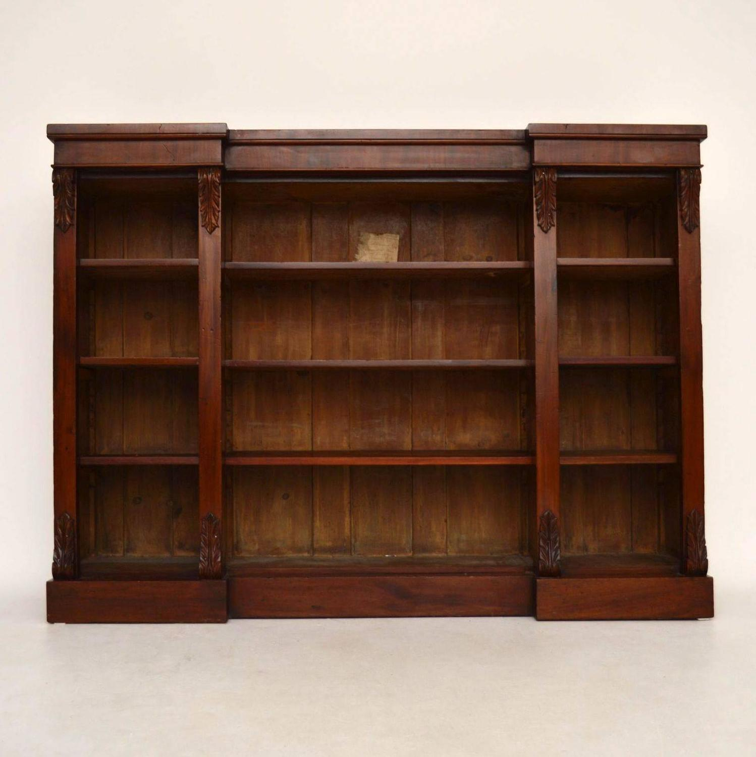 Antique Victorian Mahogany Open Bookcase For Sale At 1stdibs