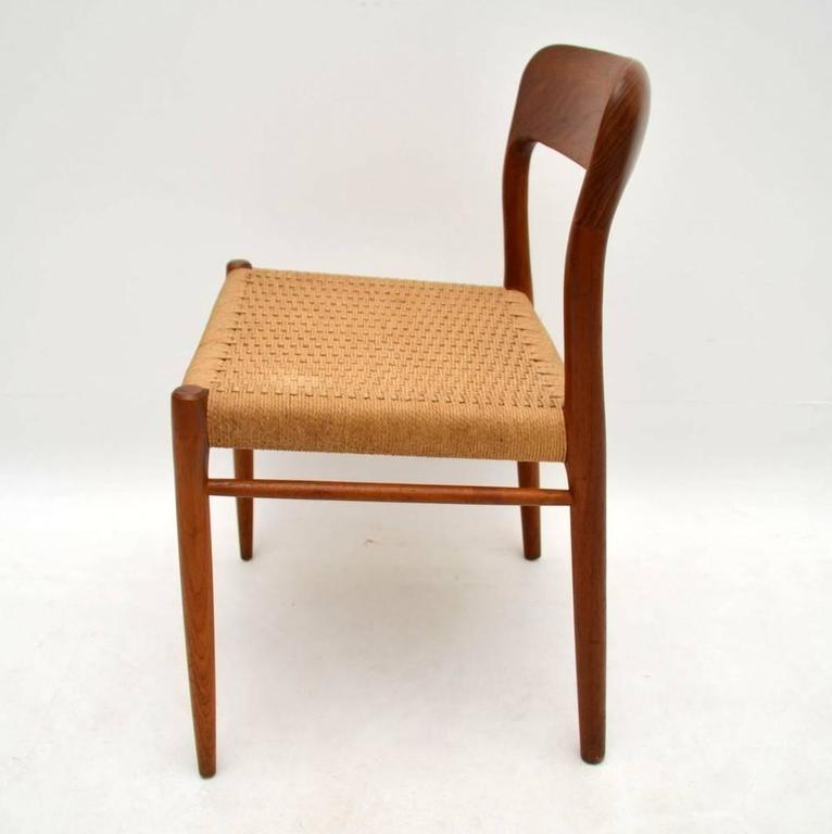 Attirant A Stunning Set Of Four Solid Teak Dining Chairs, These Were Made In Denmark  During
