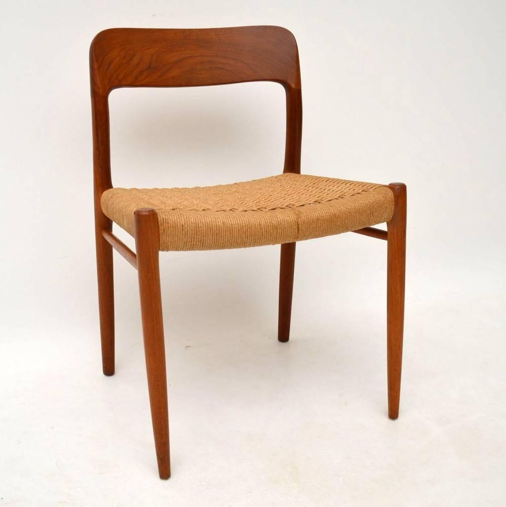 Set Of Four Danish Teak Dining Chairs By Niels M Ller Vintage 1960s At 1stdibs
