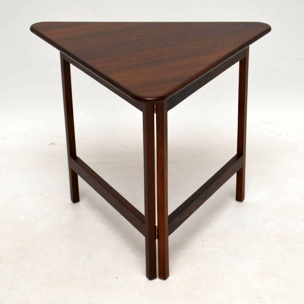 Danish Style Coffee Table: Danish Rosewood Folding Coffee Table, Rare Design Vintage