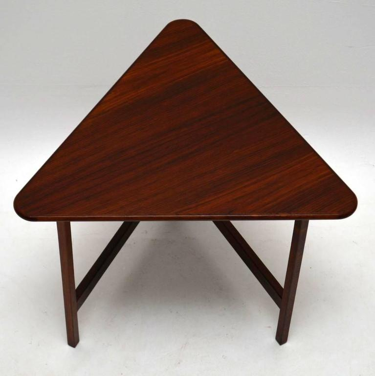 danish rosewood folding coffee table, rare design vintage, 1960s