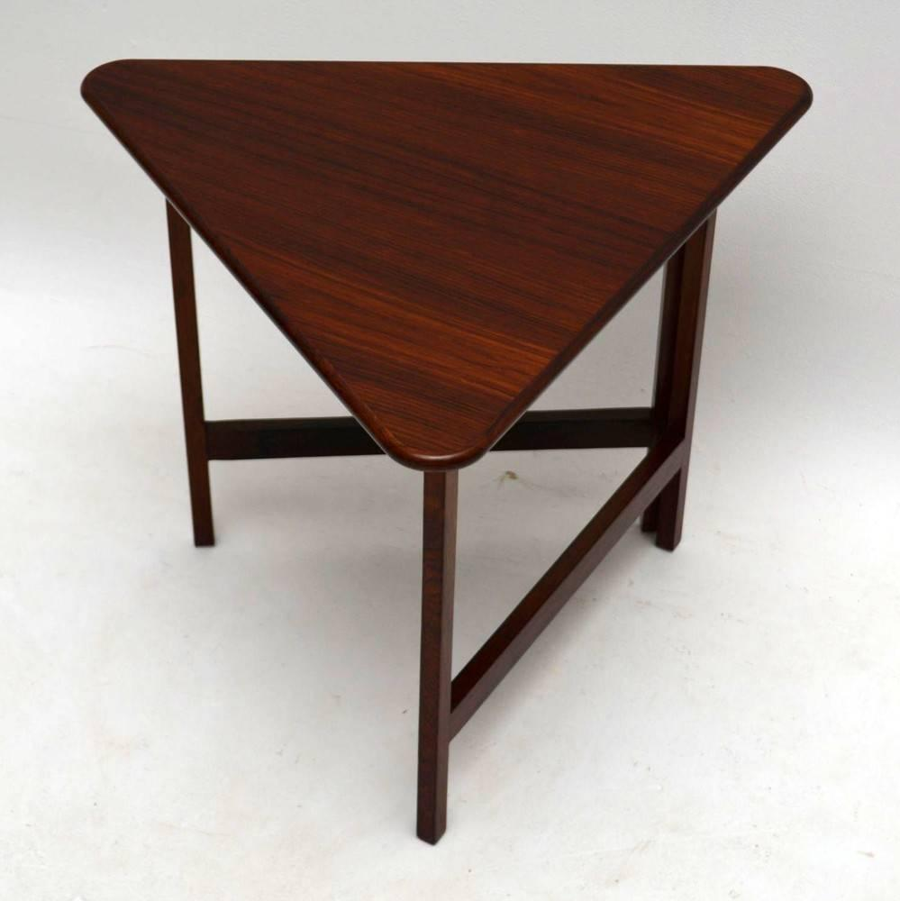 Danish Rosewood Folding Coffee Table Rare Design Vintage 1960s For Sale At 1stdibs