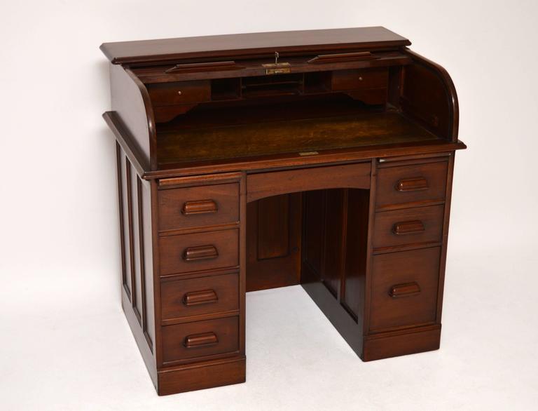 Antique Mahogany Roll Top Desk 2 - Antique Mahogany Roll Top Desk At 1stdibs