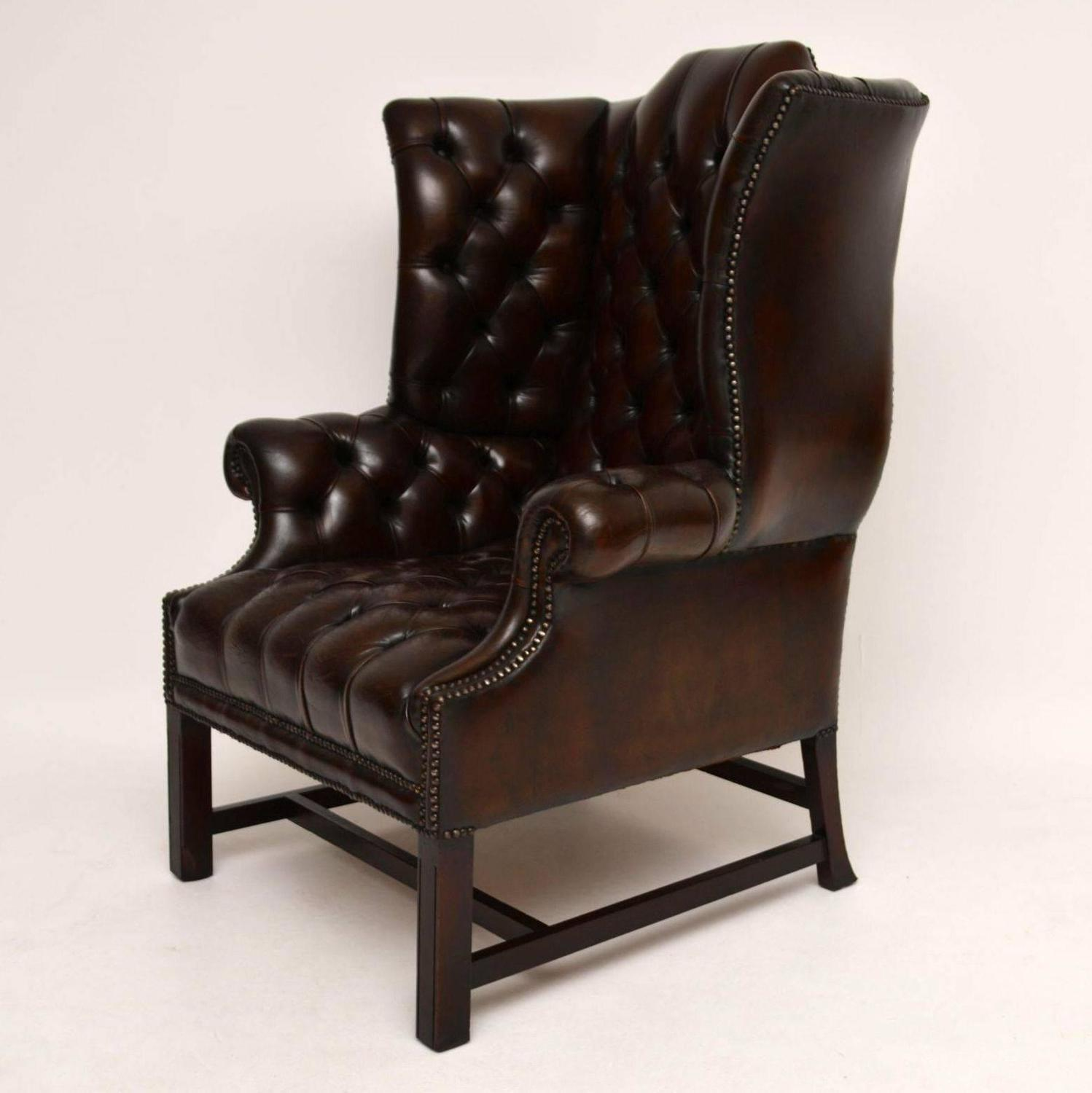 old armchairs for sale antique buttoned leather wing back armchair for 3617