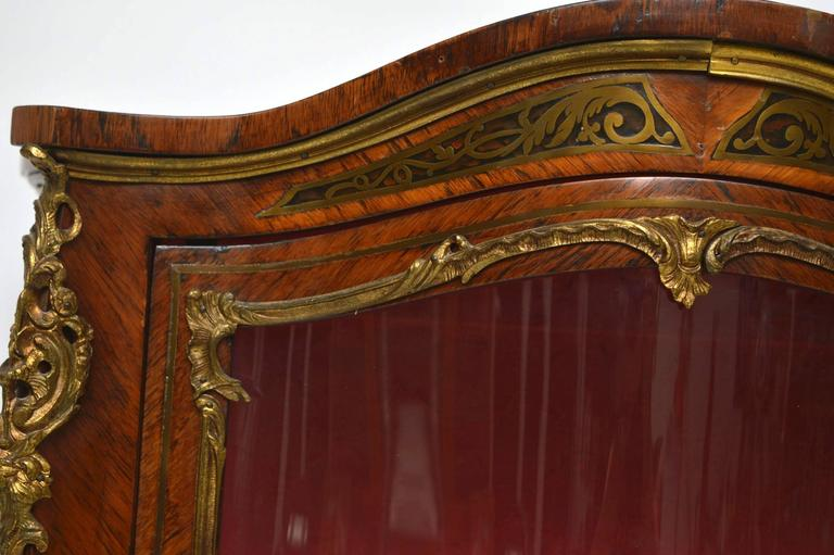 Antique French Ormolu-Mounted Display Cabinet For Sale At