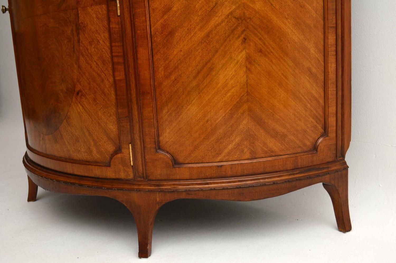 Antique Mahogany Curved Front Cabinet For Sale At 1stdibs