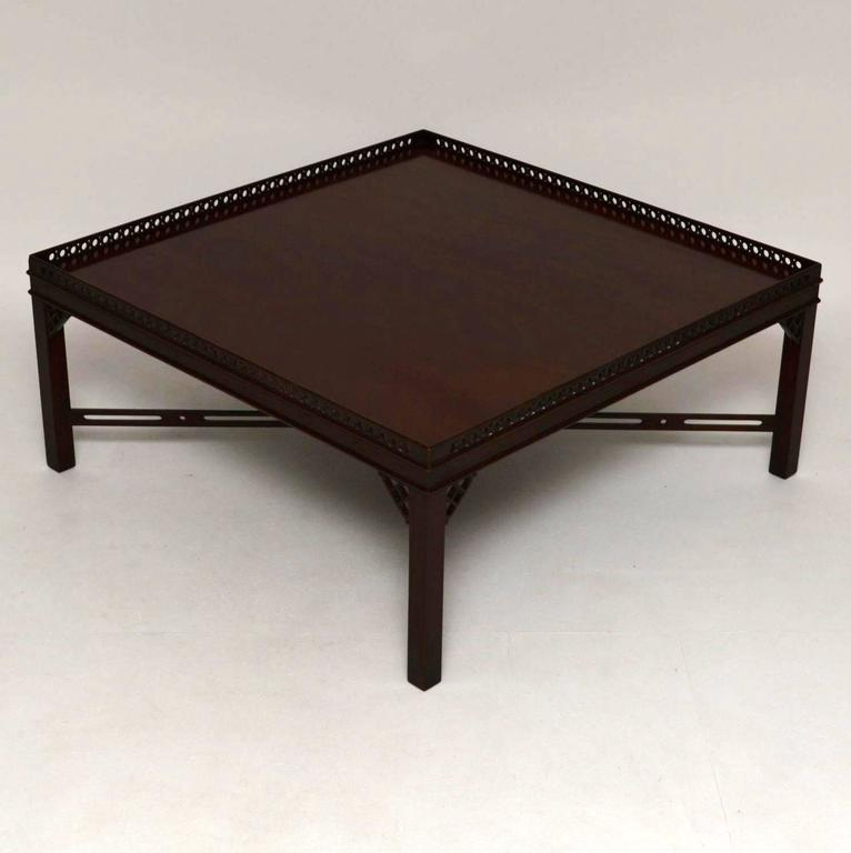 Large Antique Georgian Style Mahogany Coffee Table 2 - Large Antique Georgian Style Mahogany Coffee Table At 1stdibs