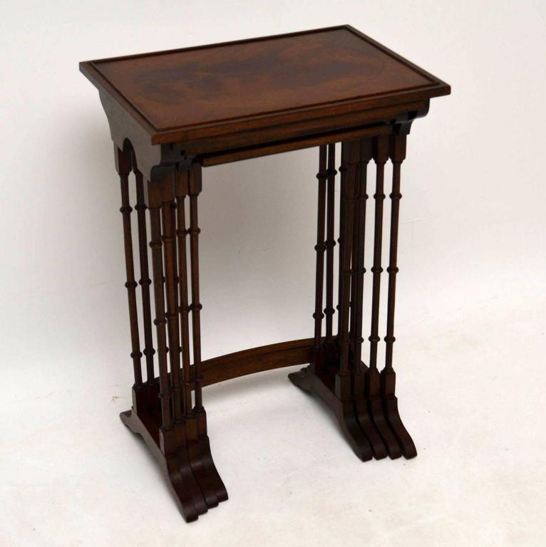 Antique Mahogany Nest Of Four Tables 3