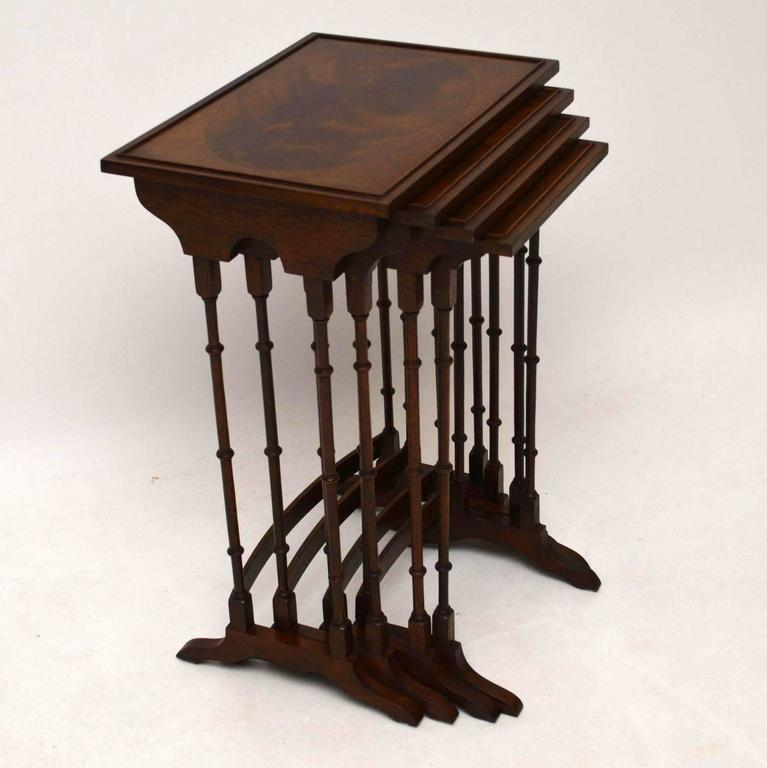 Antique mahogany nest of four tables at 1stdibs very elegant antique nest of four mahogany tables dating circa 1910 period and in good watchthetrailerfo