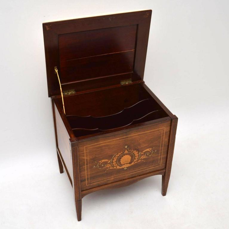 Antique Late Victorian Inlaid Rosewood Piano Stool At 1stdibs
