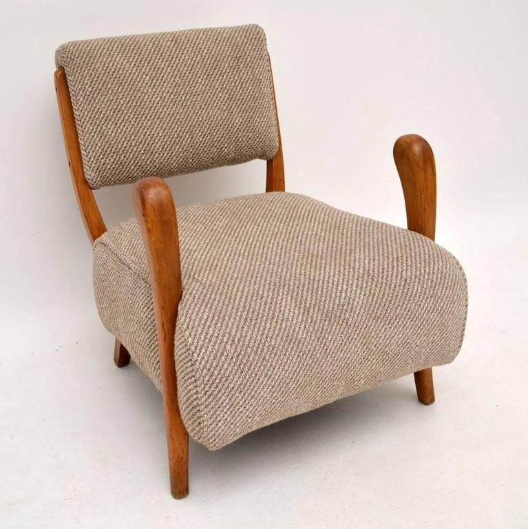 Merveilleux Retro Armchair By Jacques Groag Vintage, 1950s In Excellent Condition For  Sale In London,