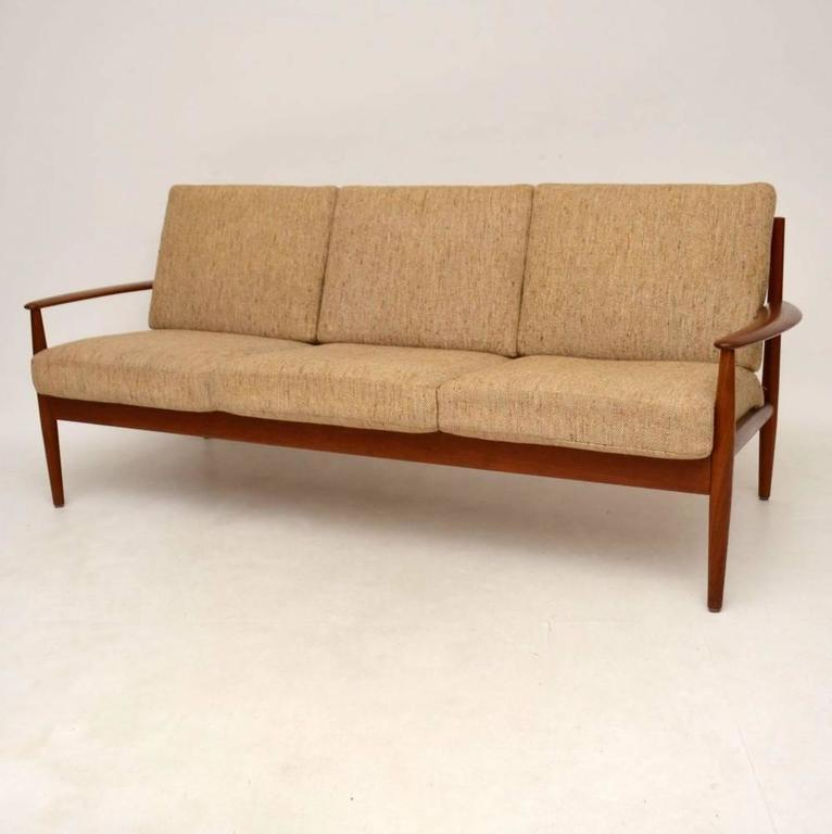 Danish Retro Teak Sofa By Grete Jalk For France Son Vintage 1960s In Excellent