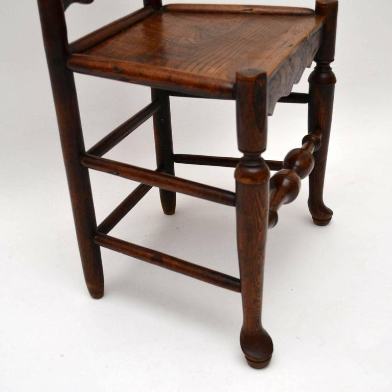 Ash Antique 18th Century Ladderback Chair For Sale - Antique 18th Century Ladderback Chair At 1stdibs