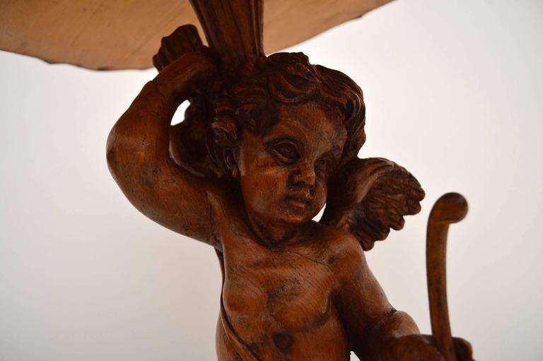 Antique Carved Cherub Mounted Table At 1stdibs
