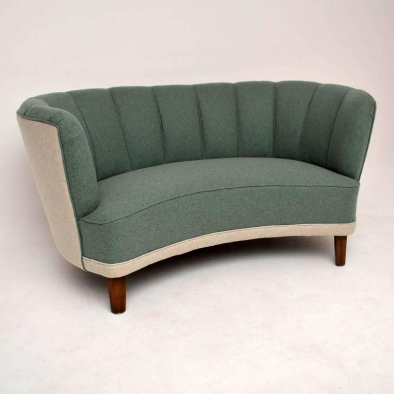 Retro Swedish Banana Tail Sofa Vintage 1950s In Excellent Condition For London