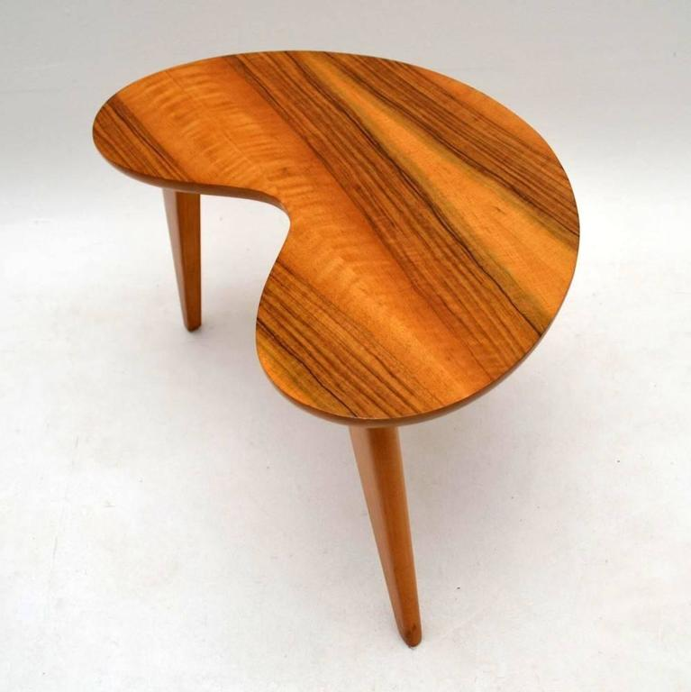 Retro Walnut Boomerang Coffee Table Vintage 1950s For 2