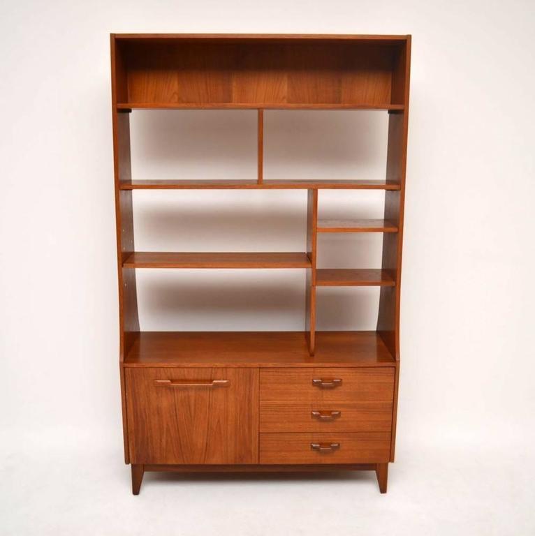 Teak Retro Bookcase Cabinet Or Room Divider Vintage