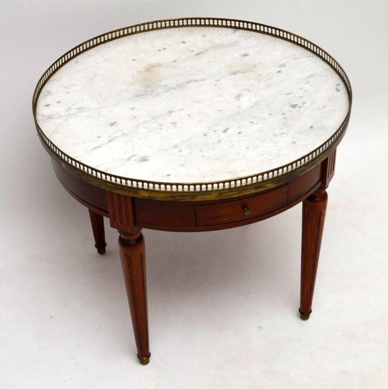 Vintage Marble Coffee Table: Antique French Marble-Top Coffee Table At 1stdibs