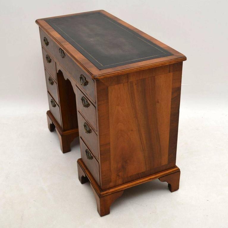 Antique burr walnut knee hole desk at 1stdibs - Antique peephole ...