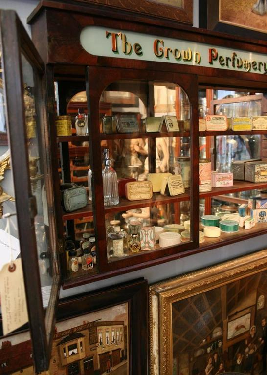 Incroyable Victorian Antique 19th Century Three Door Pharmacy Cabinet With A Sliding  Door To The Centre