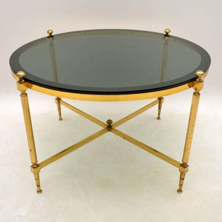 Retro Brass Coffee Table Vintage S At Stdibs - Coffee table depth