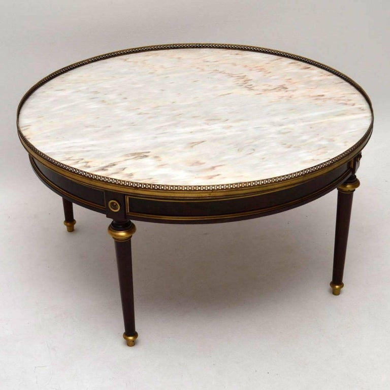 Antique French Marble Top Coffee Table: Large Antique French Marble-Top Coffee Table At 1stdibs