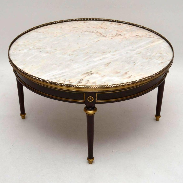 Large Antique French Marble-Top Coffee Table at 1stdibs