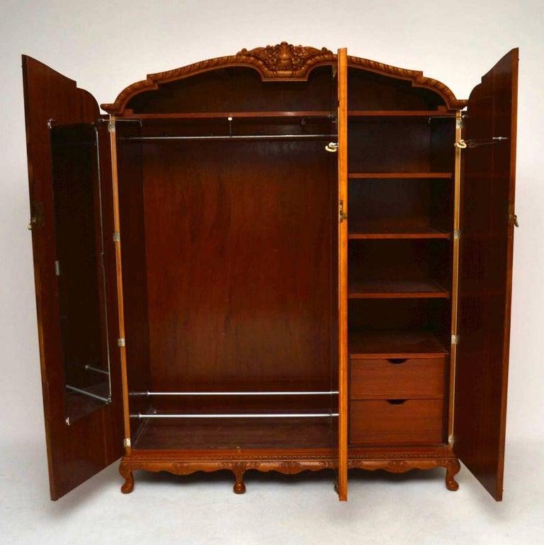 antique three door burr walnut wardrobe for sale at 1stdibs
