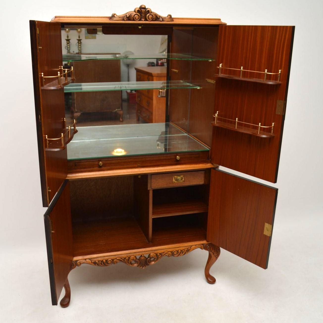 - Antique Burr Walnut Cocktail Drinks Cabinet At 1stdibs