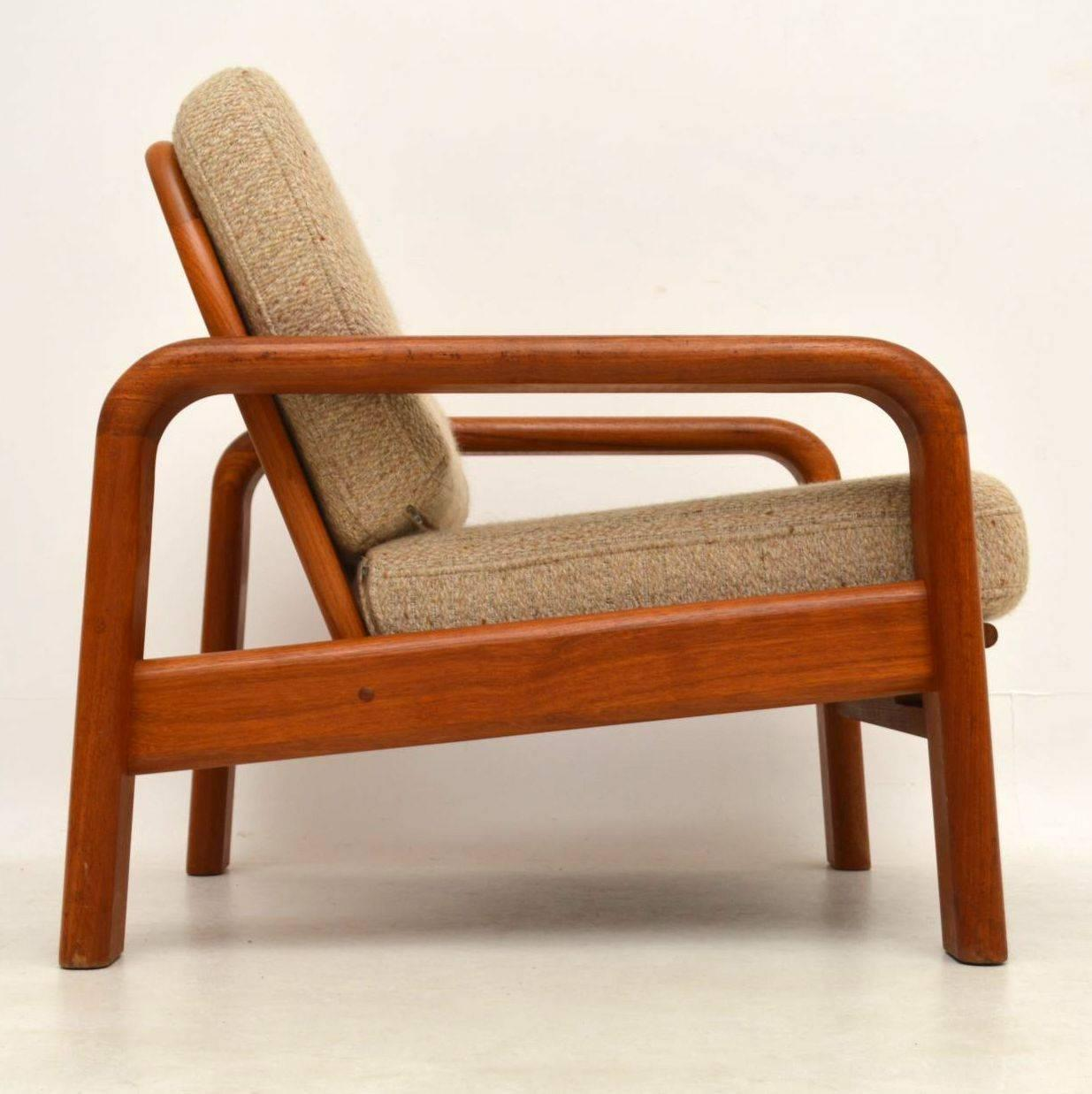 A Stylish And Very Well Made Pair Of Solid Teak Vintage Armchairs, These  Were Made