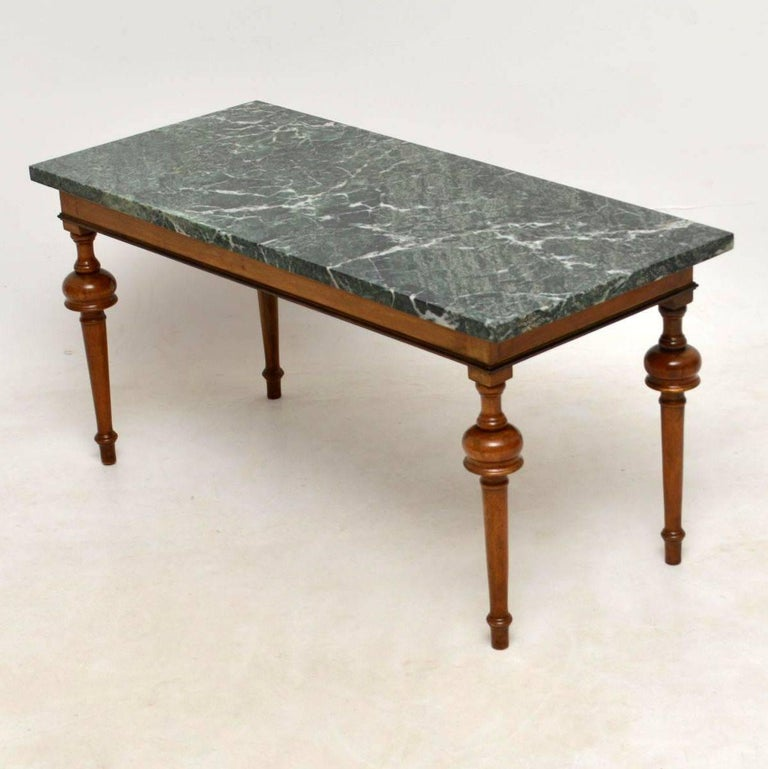Antique Coffee Table.Antique Marble Top Coffee Table