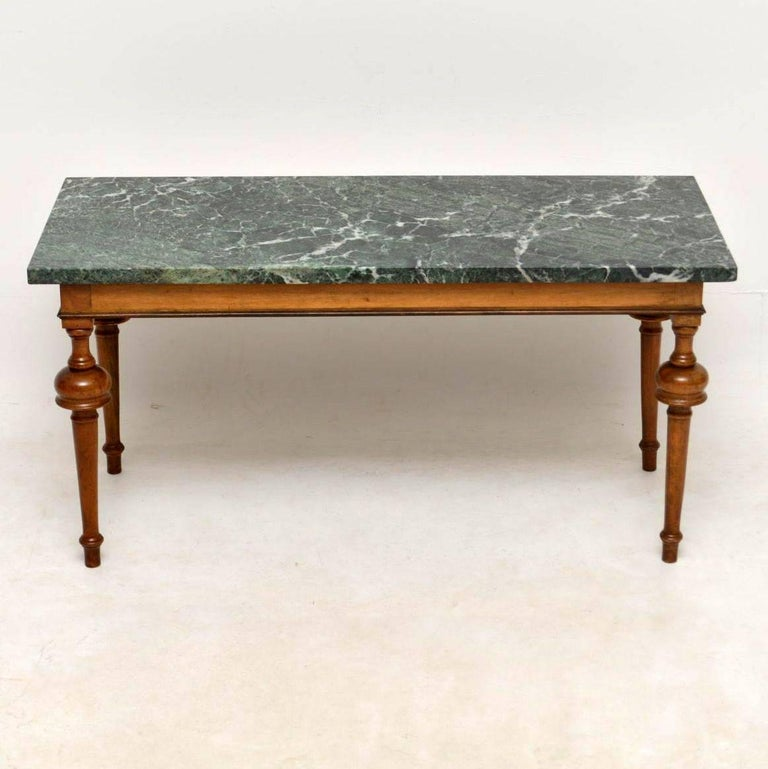 Small Antique Marble Top Coffee Table In Lovely Original Condition Dating From Circa 1920s