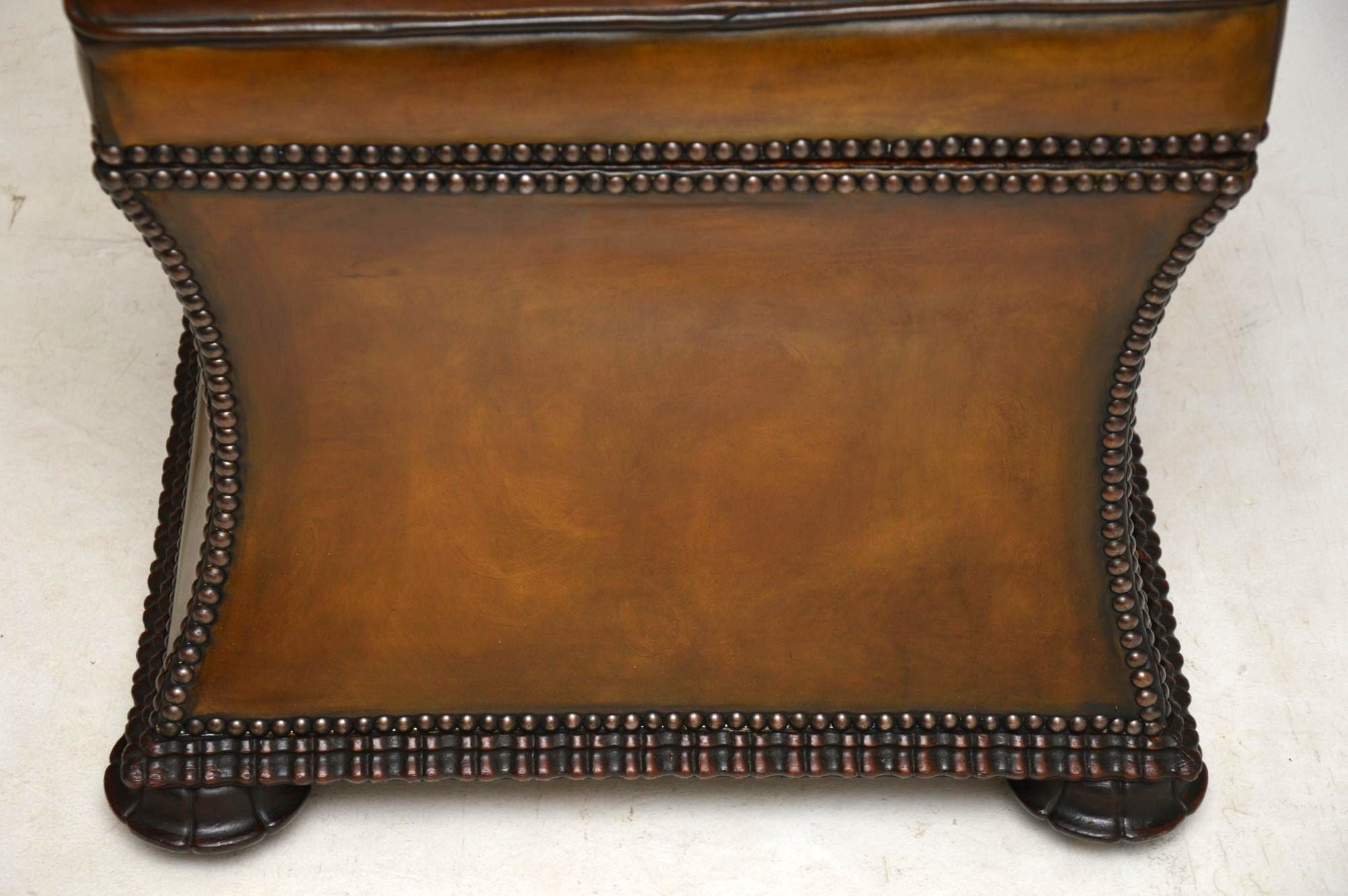 Outstanding Antique William Iv Studded Leather Ottoman Stool Alphanode Cool Chair Designs And Ideas Alphanodeonline