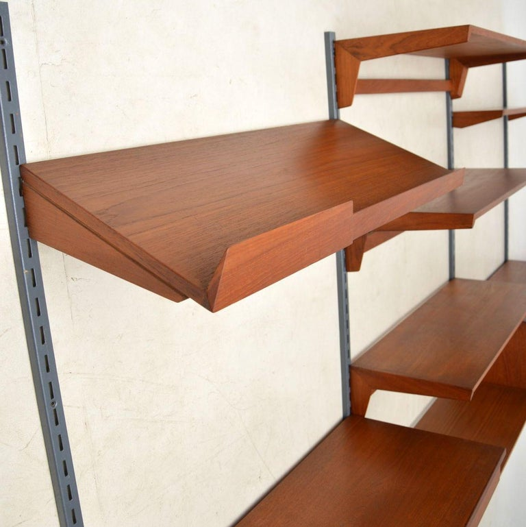 Mid-Century Modern 1960s Vintage Danish Wall Unit / Bookcase / Desk by Kai Kristiansen For Sale