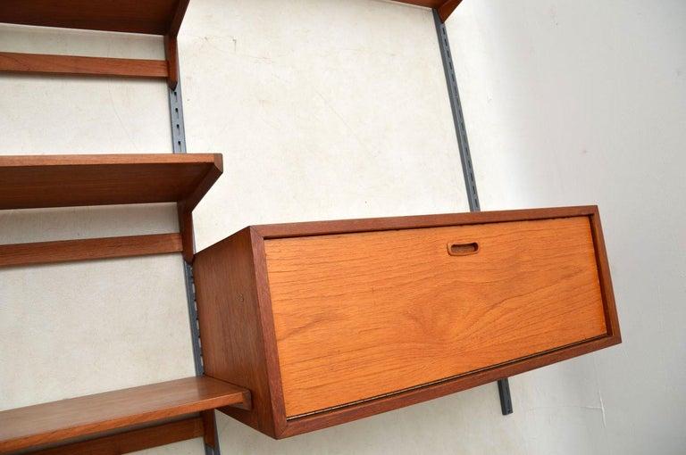 Mid-20th Century 1960s Vintage Danish Wall Unit / Bookcase / Desk by Kai Kristiansen For Sale
