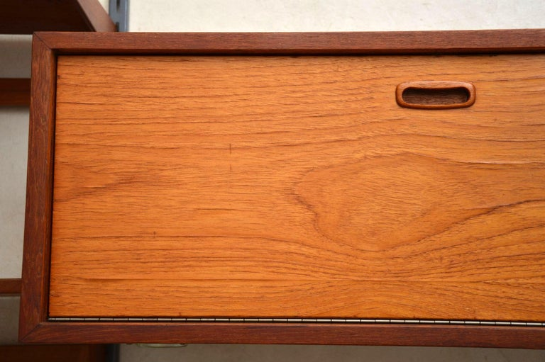 1960s Vintage Danish Wall Unit / Bookcase / Desk by Kai Kristiansen For Sale 2