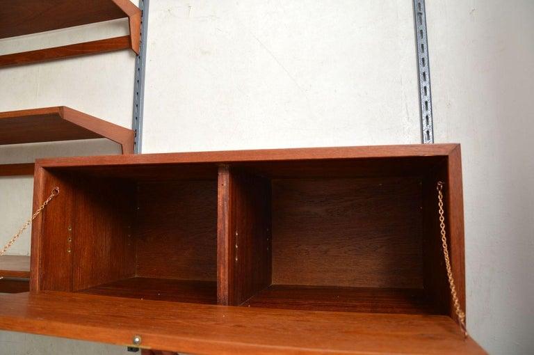 1960s Vintage Danish Wall Unit / Bookcase / Desk by Kai Kristiansen For Sale 4