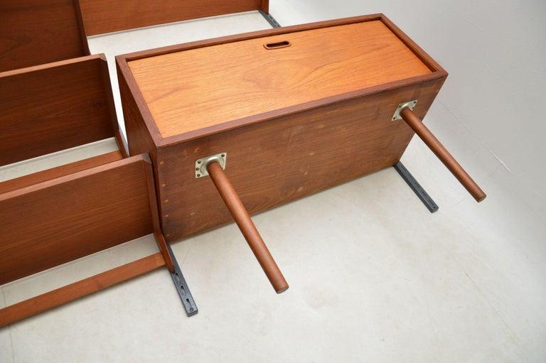 1960s Vintage Danish Wall Unit / Bookcase / Desk by Kai Kristiansen For Sale 6