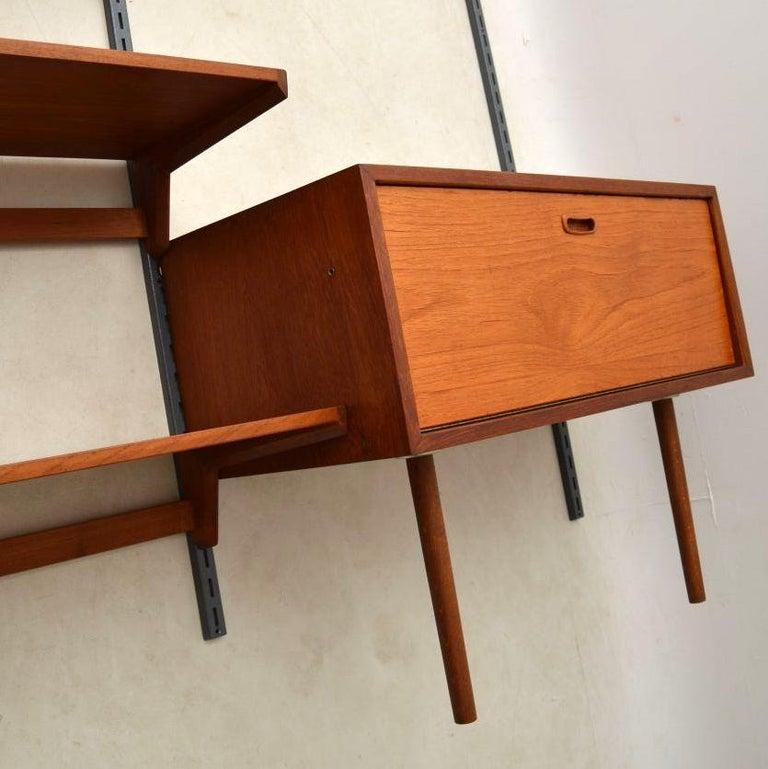 1960s Vintage Danish Wall Unit / Bookcase / Desk by Kai Kristiansen For Sale 7