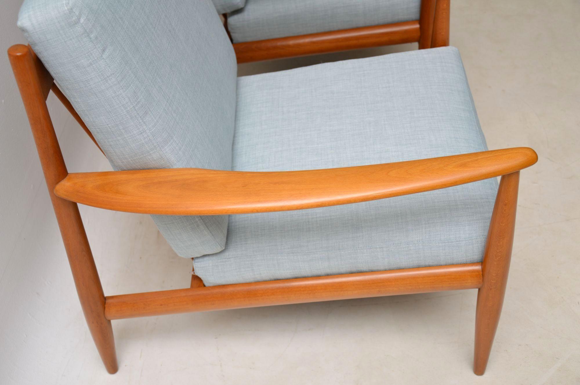 Bon Wood 1960s Pair Of Vintage Danish Armchairs For Sale